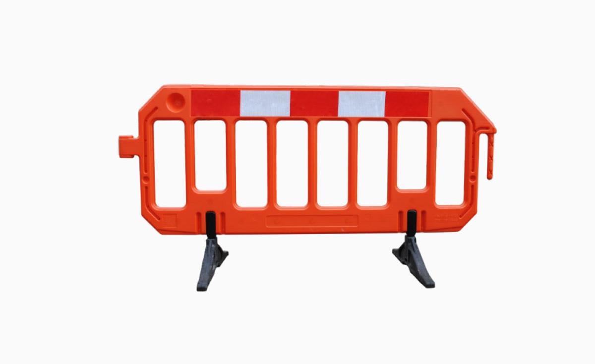Bariera drogowa PVC - czerwona