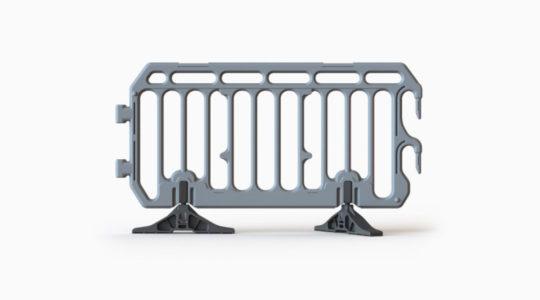 Barierka ochronna PVC - szara