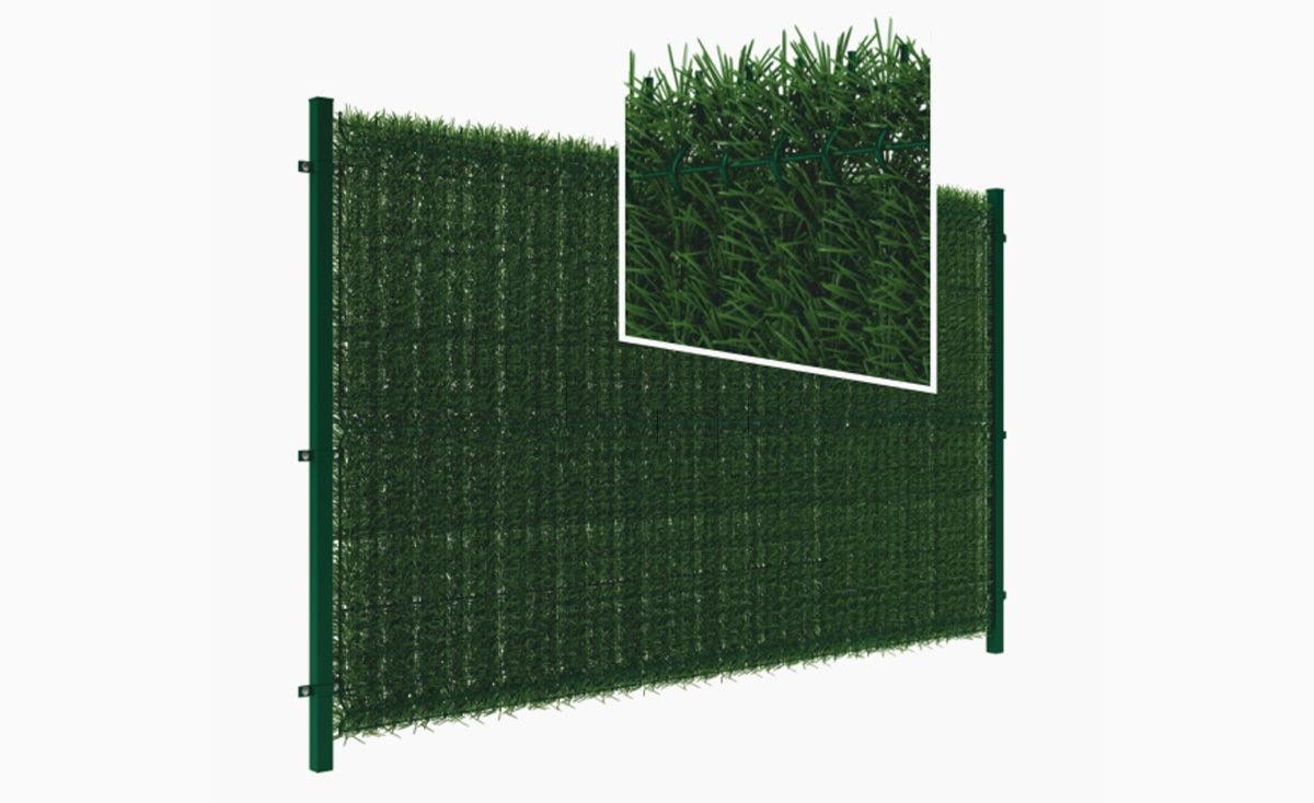Przesłona do ogrodzeń panelowych - zielona