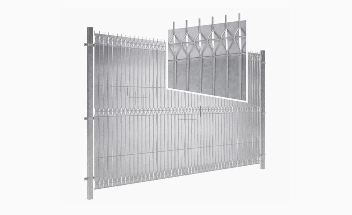 Przesłona do ogrodzeń panelowych - Steel & Zinc